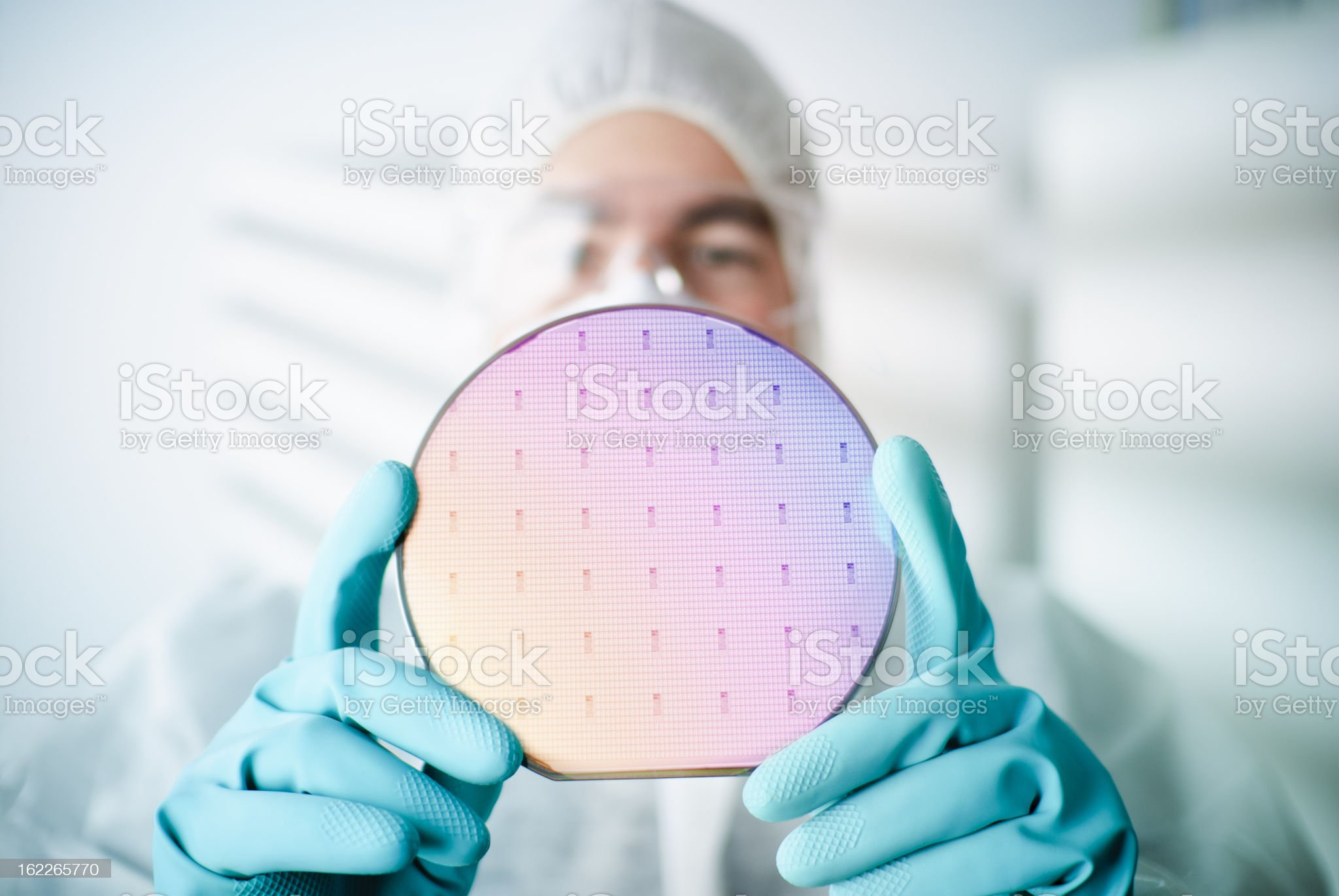 Silicon Wafer royalty-free stock photo