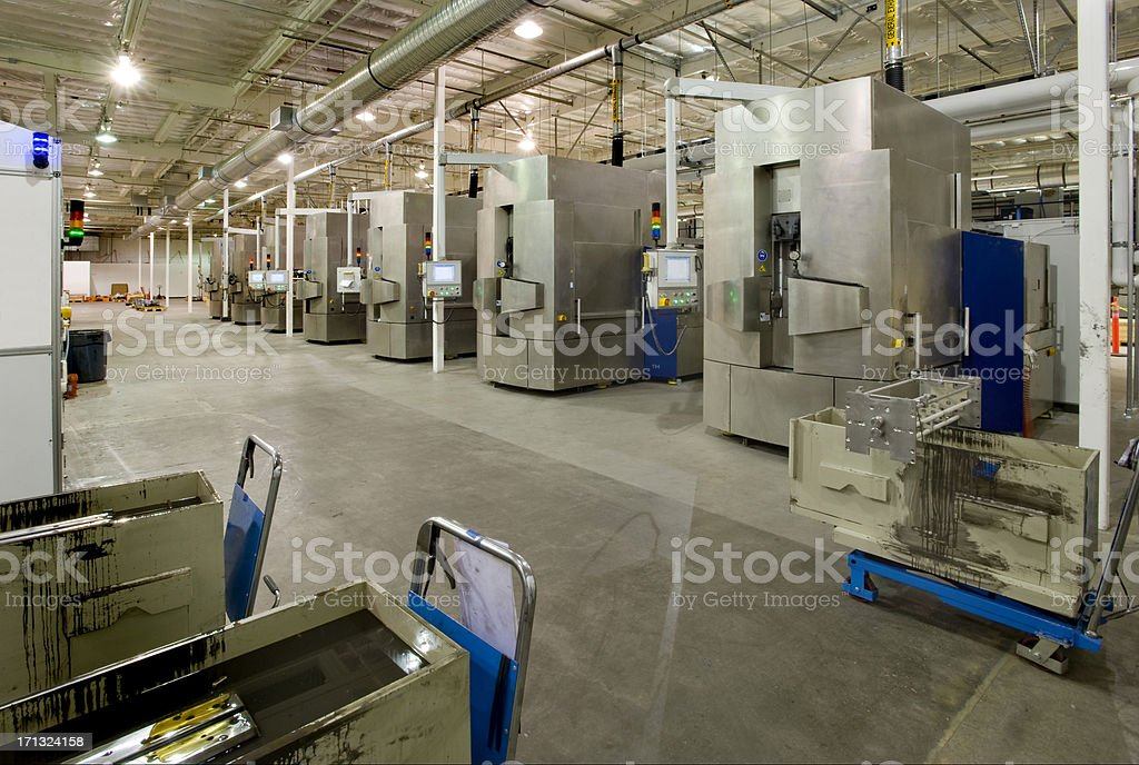 Silicon Wafer Slicing Machines stock photo