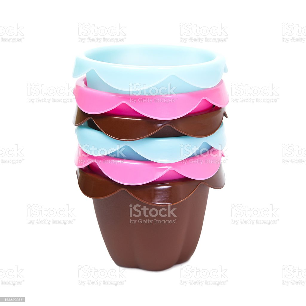 Silicone baking cups royalty-free stock photo