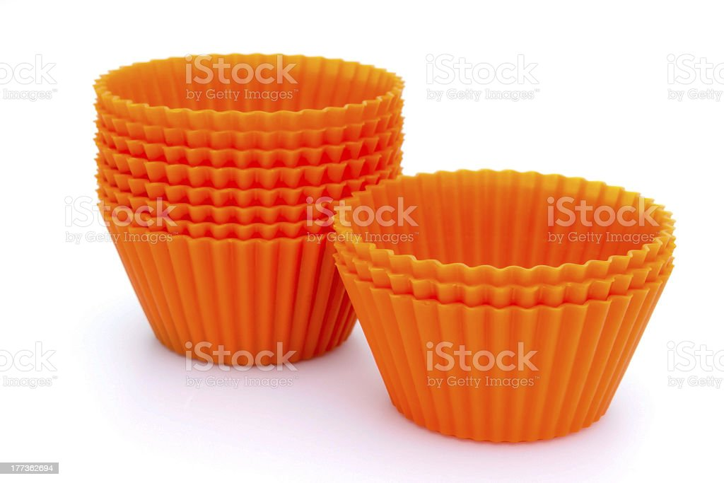 Silicone cupcake cases stock photo