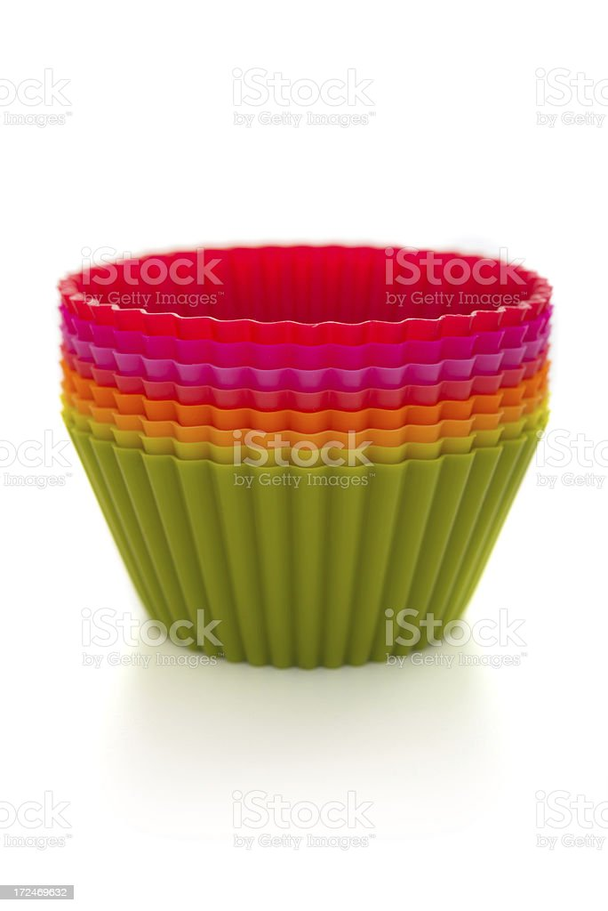 Silicone cupcake moulds royalty-free stock photo