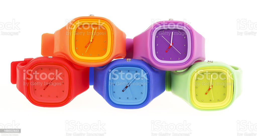 Silicone jelly watches royalty-free stock photo
