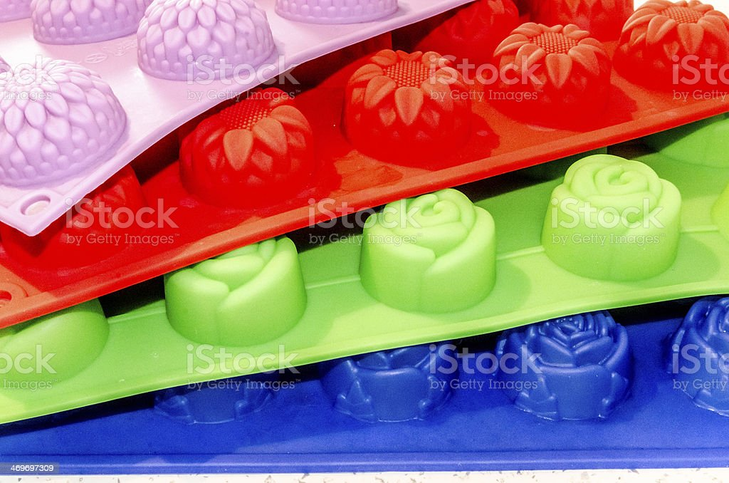 Silikon molds for cookies and sweets I. stock photo