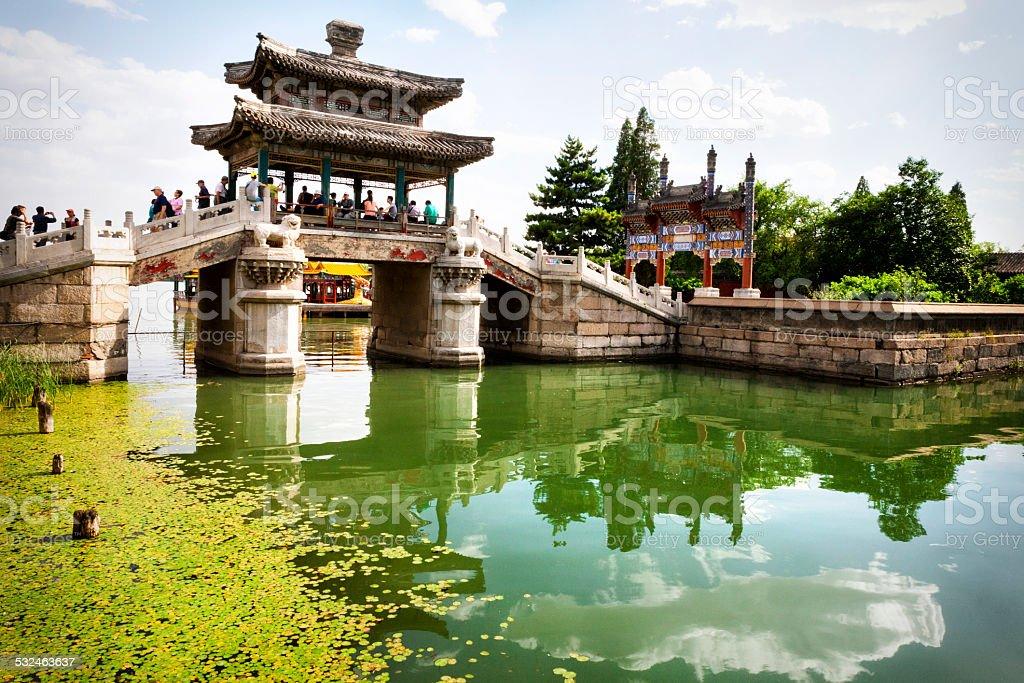 Silk Bridge at the Summer Palace stock photo
