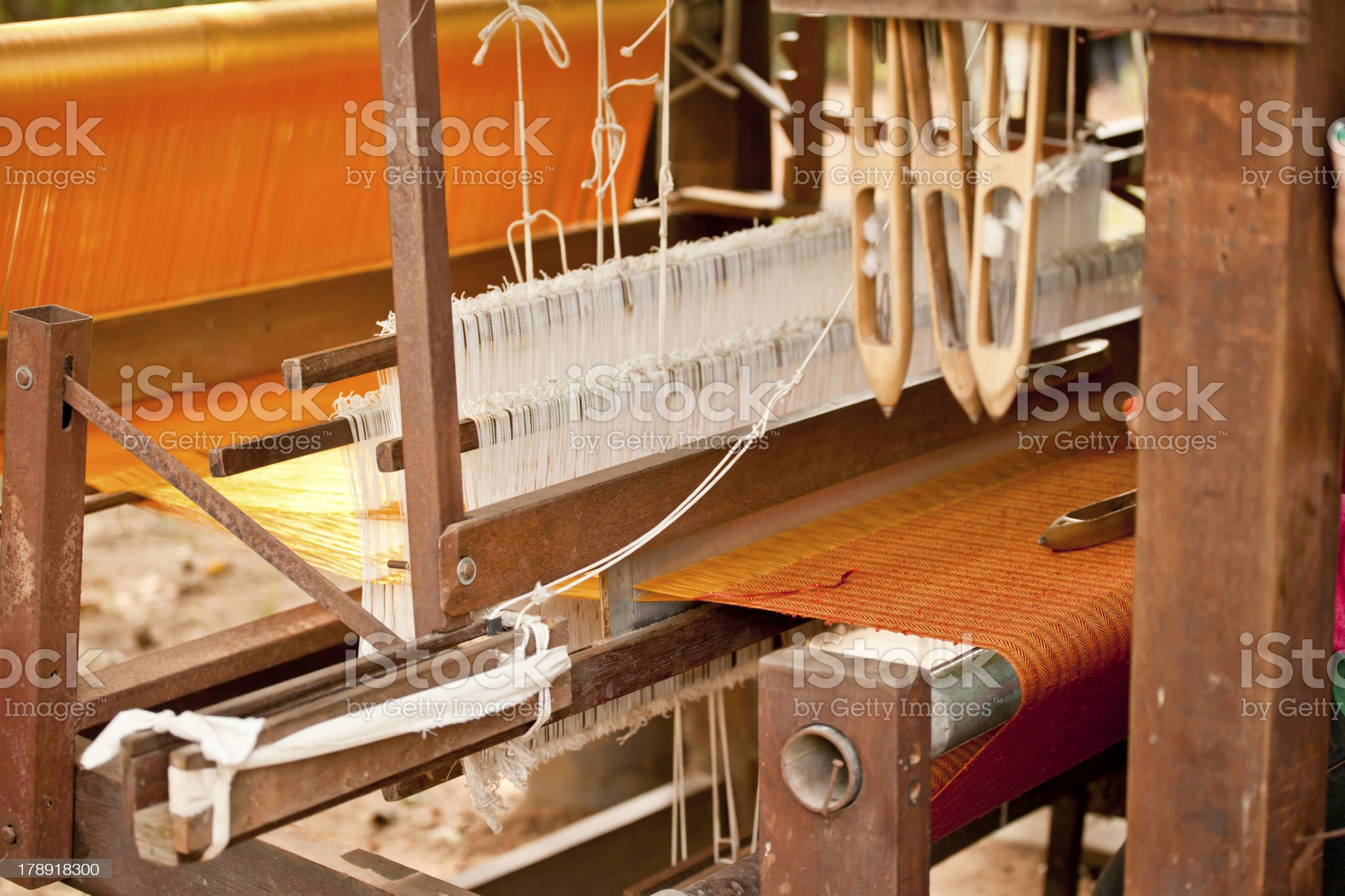 Silk cloth ,sewing machine royalty-free stock photo