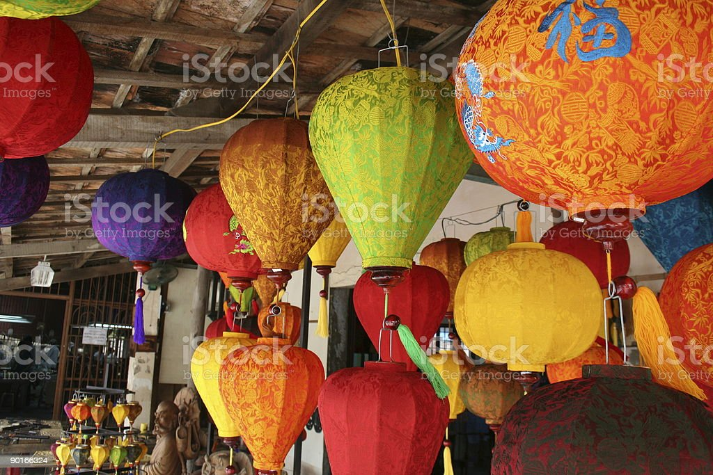 silk colour lamps royalty-free stock photo