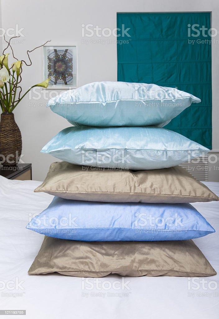 Silk cushions royalty-free stock photo