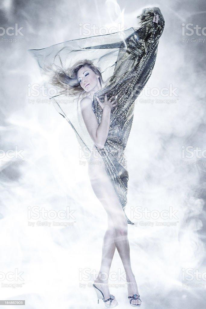 Silk dancer royalty-free stock photo