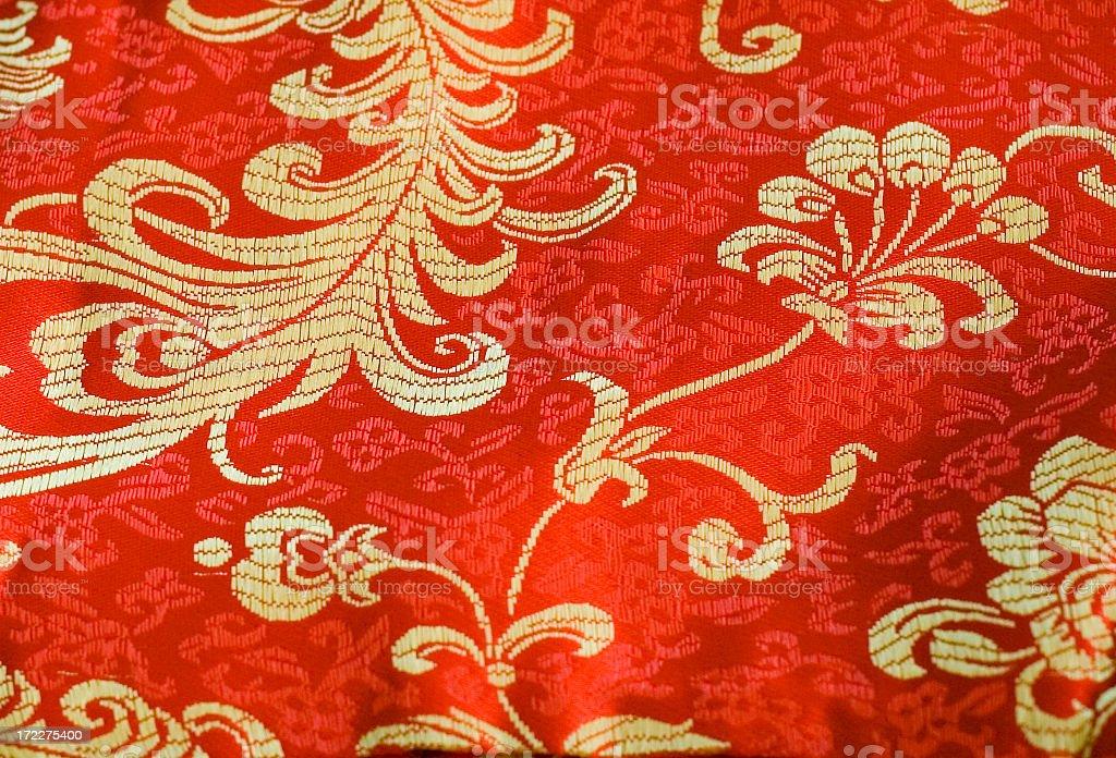 Silk fabric sample royalty-free stock photo