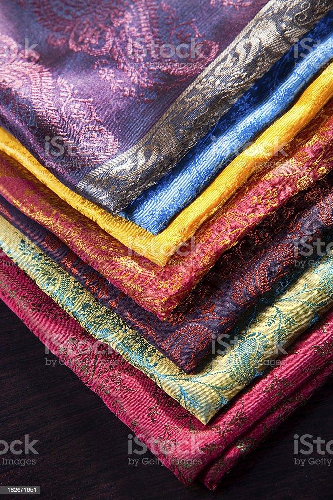 silk fabrics royalty-free stock photo