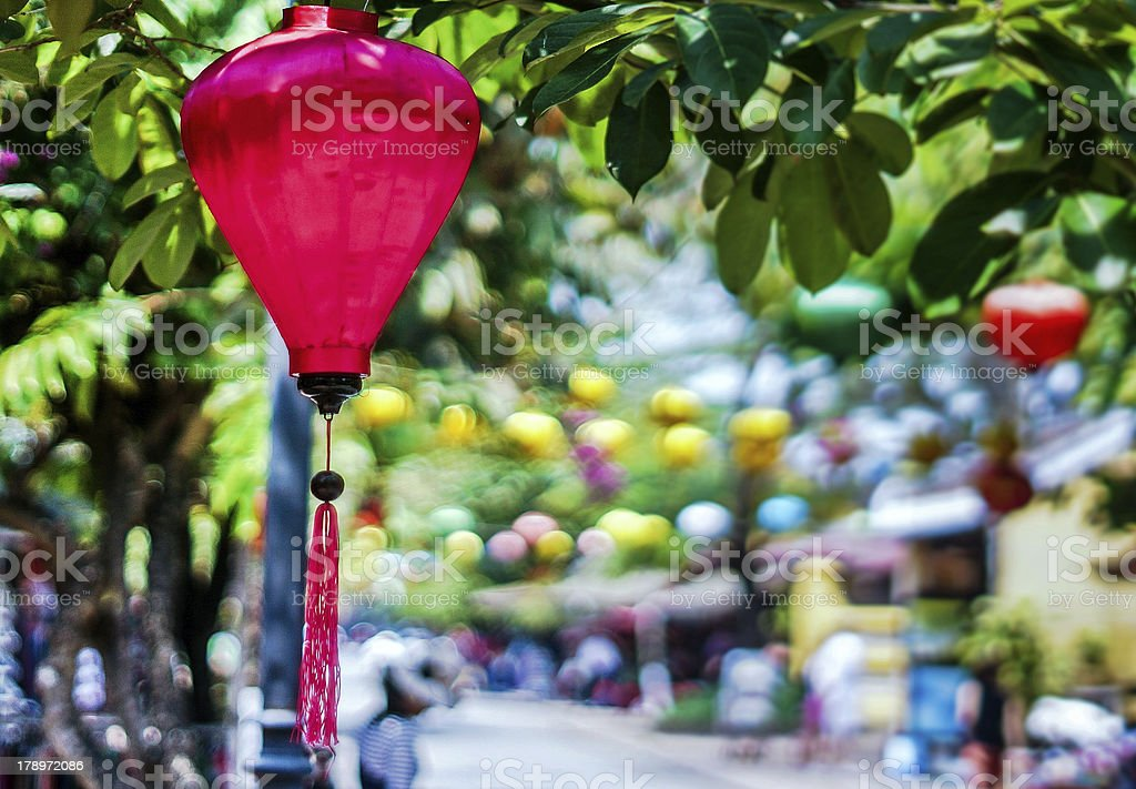 Silk lanterns in Hoi An Ancient Town royalty-free stock photo
