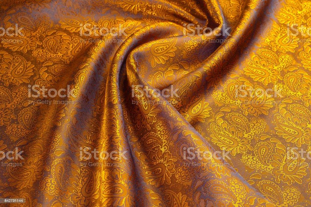 Silk. Lining brown stock photo