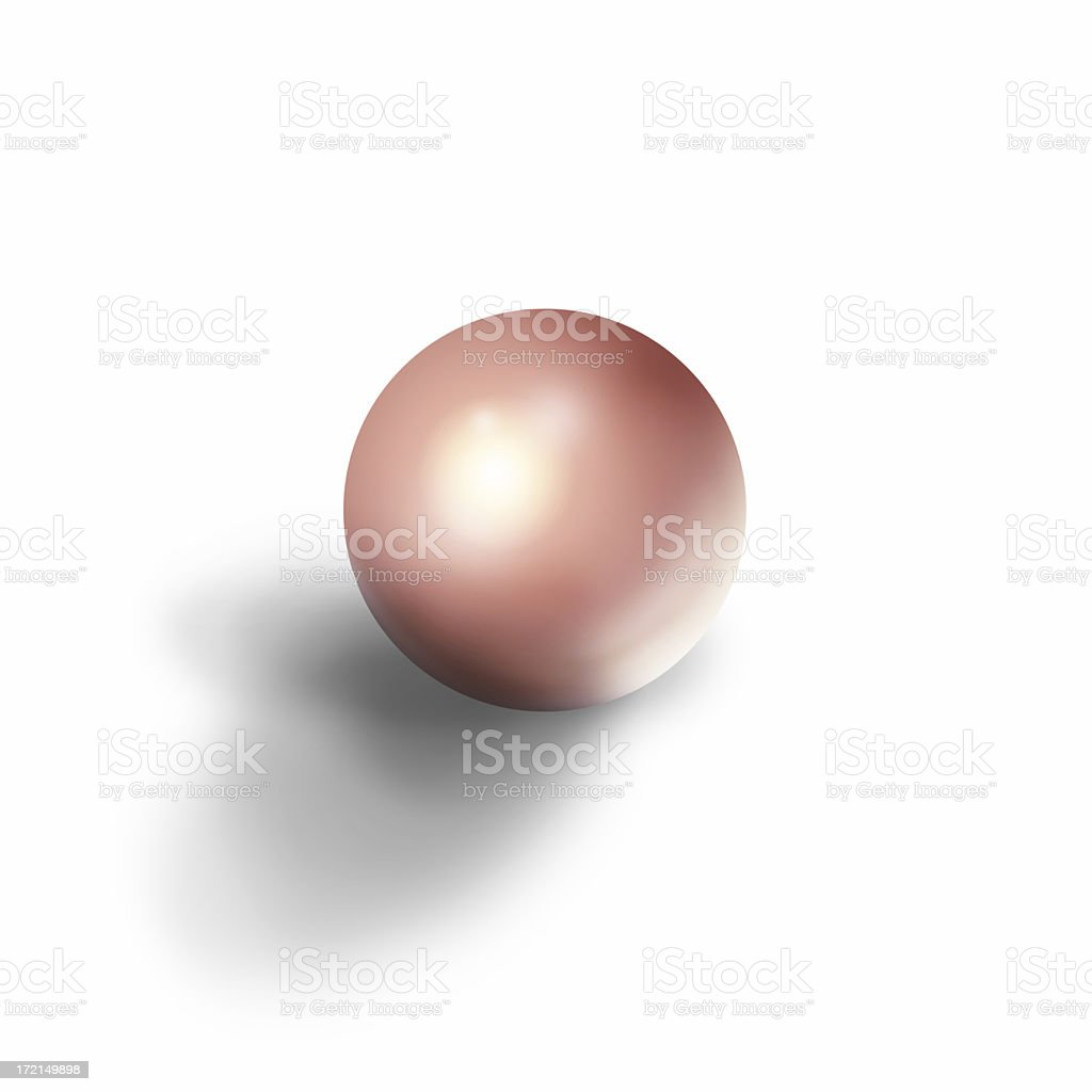 Silk pearl royalty-free stock photo