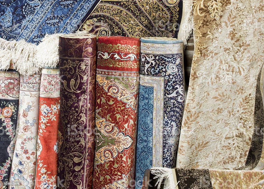 Silk rugs royalty-free stock photo