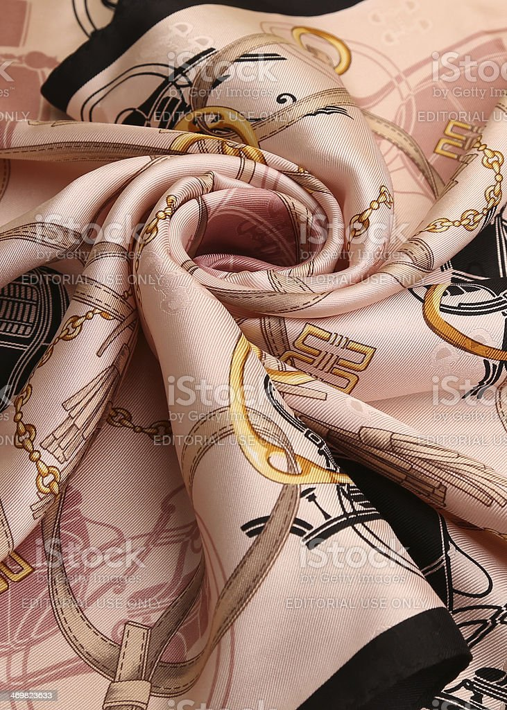 silk scarf royalty-free stock photo
