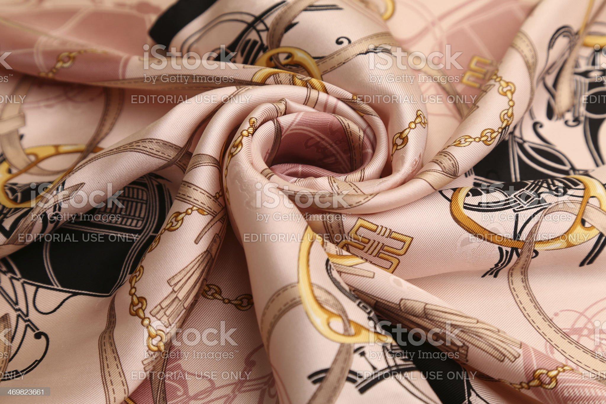silk scarf royalty-free stock photo