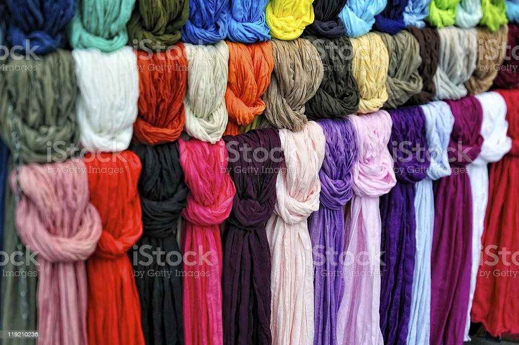 Silk scarfs royalty-free stock photo