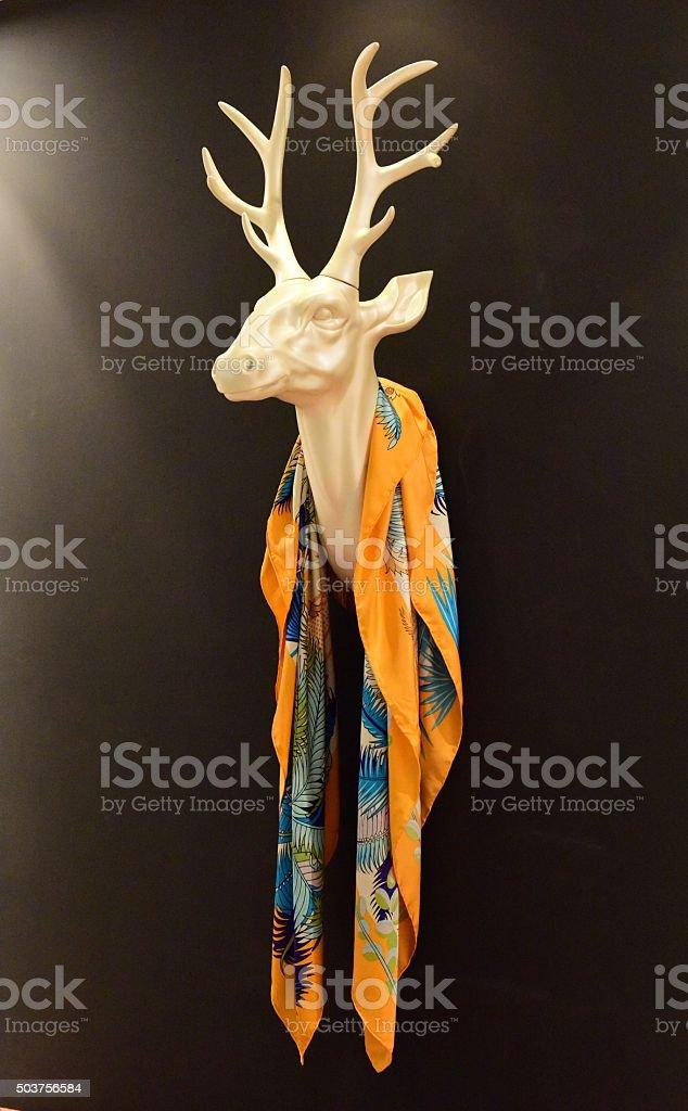 실크 스카프와 머리 밴드 사슴 royalty-free 스톡 사진