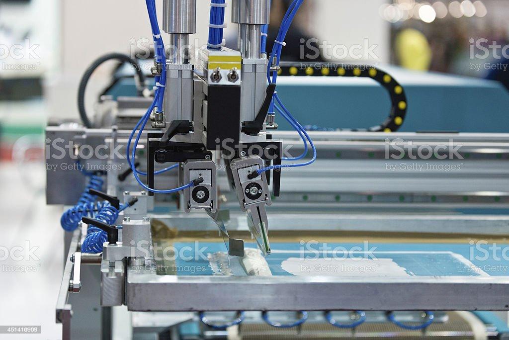 Silk screen printer stock photo