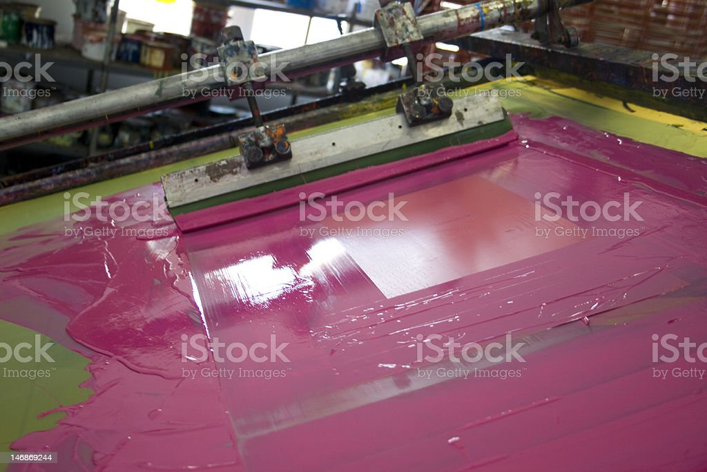 Silk screen printing stock photo
