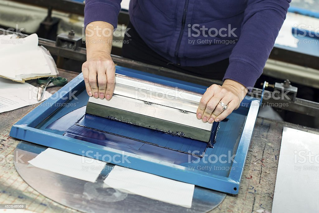 silk screening stock photo
