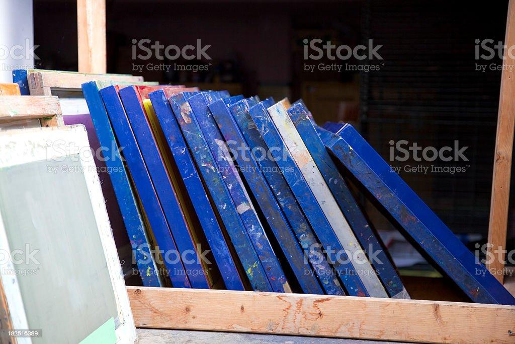 Silk Screens royalty-free stock photo