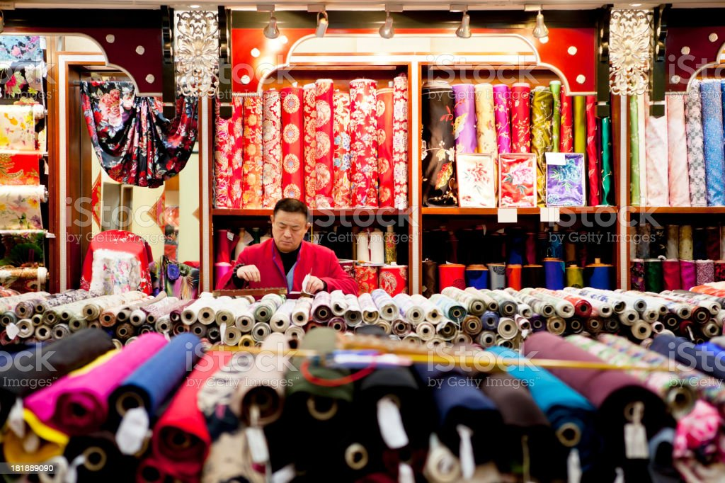 silk shop royalty-free stock photo