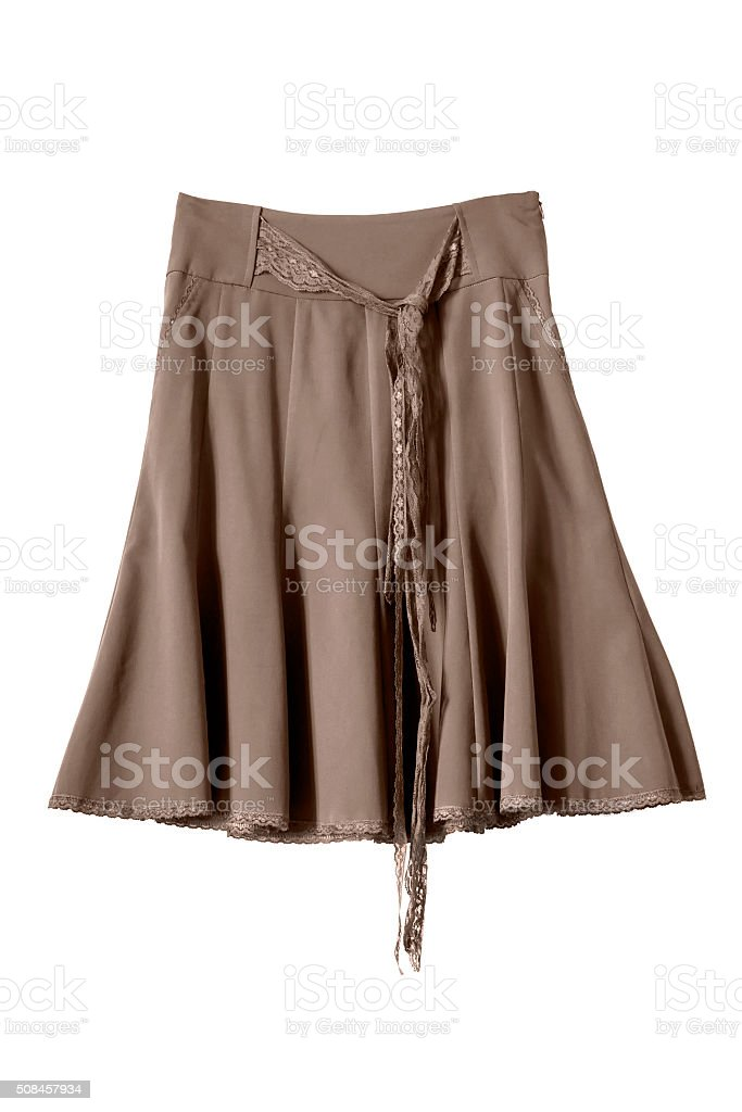 Silk skirt stock photo