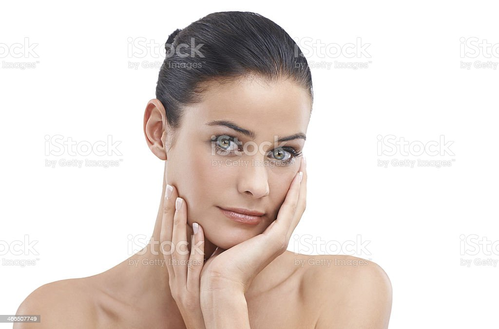 Silk soft skin royalty-free stock photo