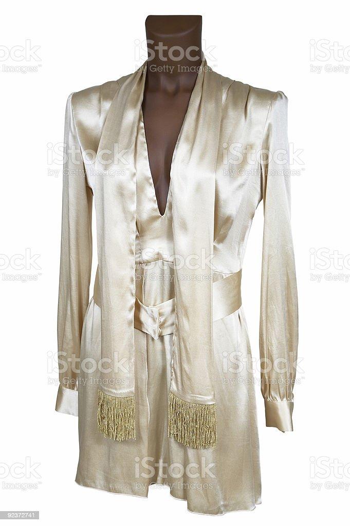 Silk summer dress royalty-free stock photo