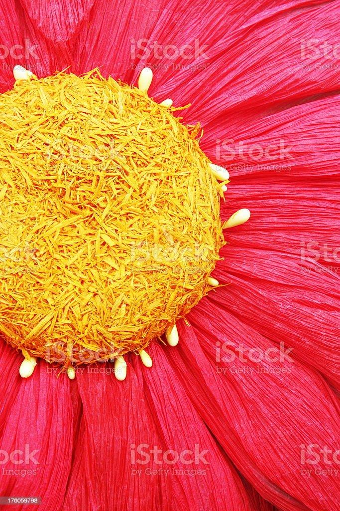 Silk Sunflower Blossom Craft Decor royalty-free stock photo