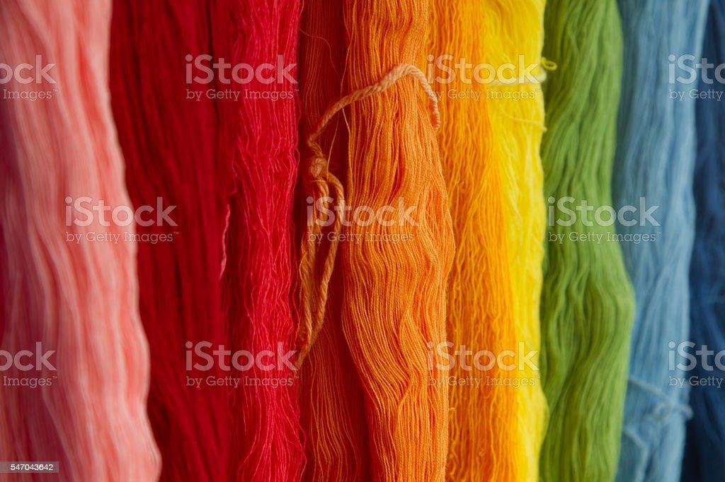Silk Threads stock photo