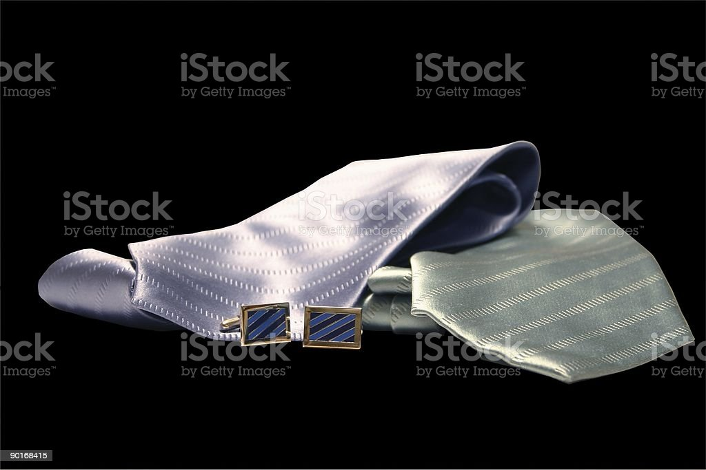 silk ties in black isolation royalty-free stock photo
