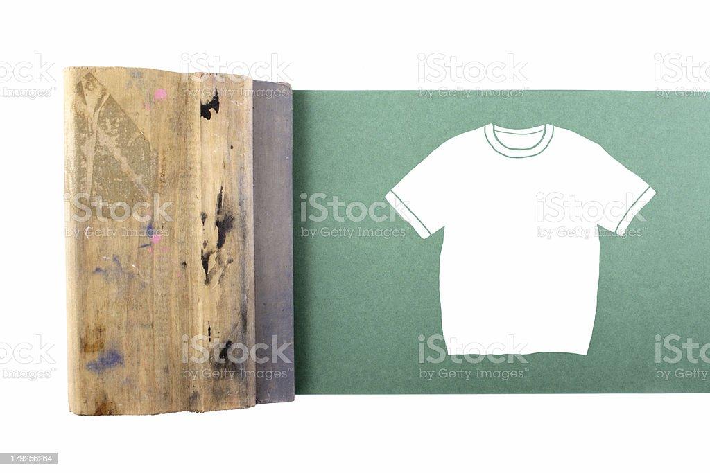 Silking t-shirt royalty-free stock photo