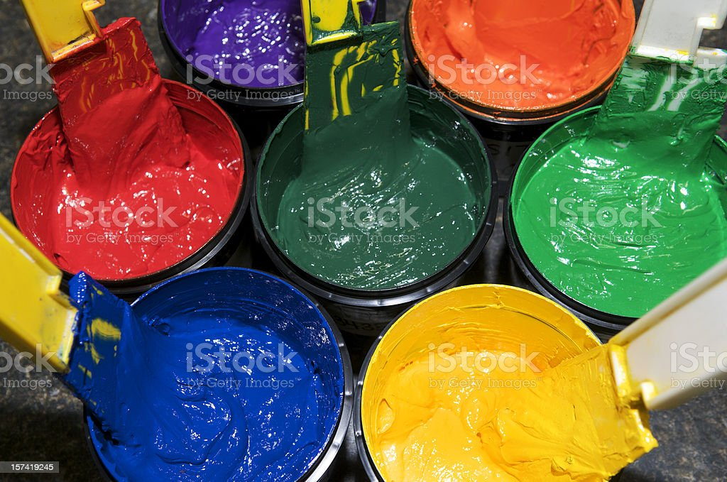 Silkscreen Ink or Paint stock photo