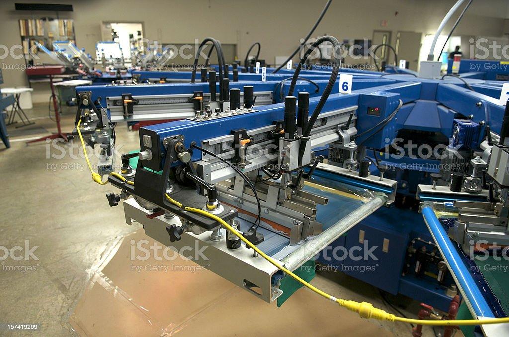 Silkscreen Operation stock photo