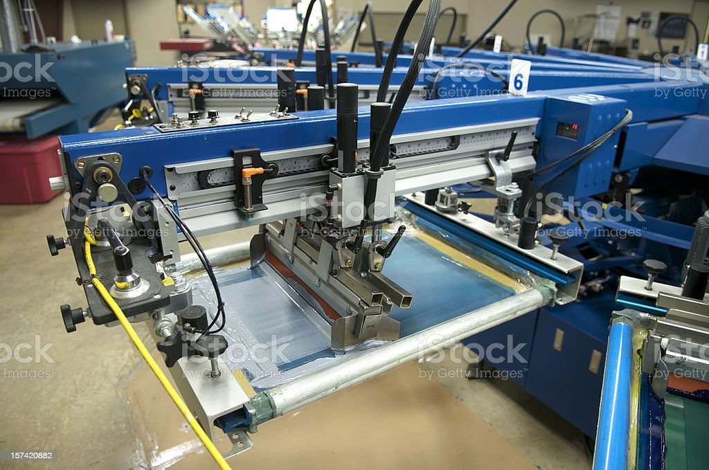 Silkscreen Operation stock photo