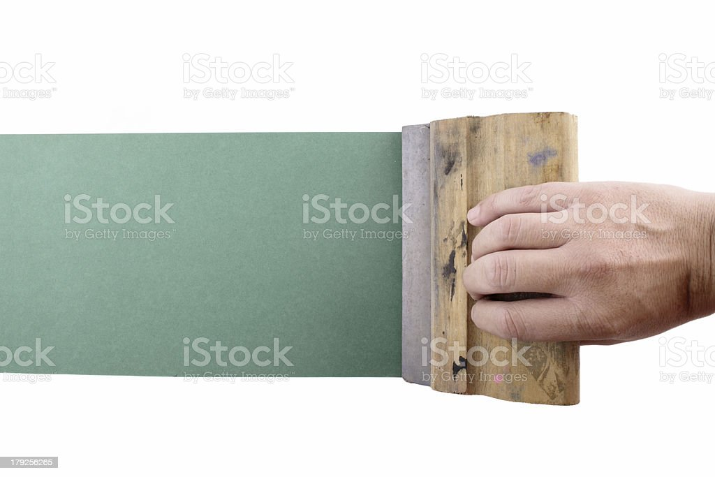 silkscreening top view royalty-free stock photo