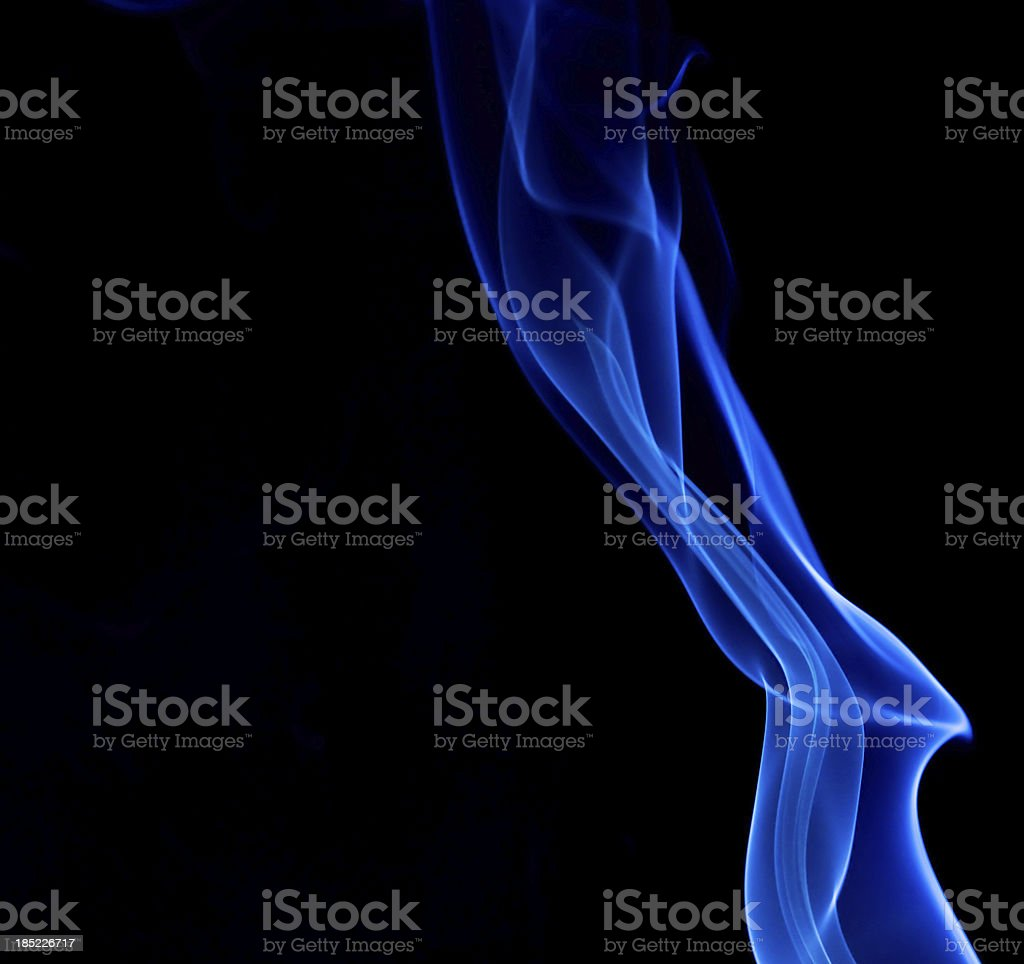 Silky Blue Smoke royalty-free stock photo