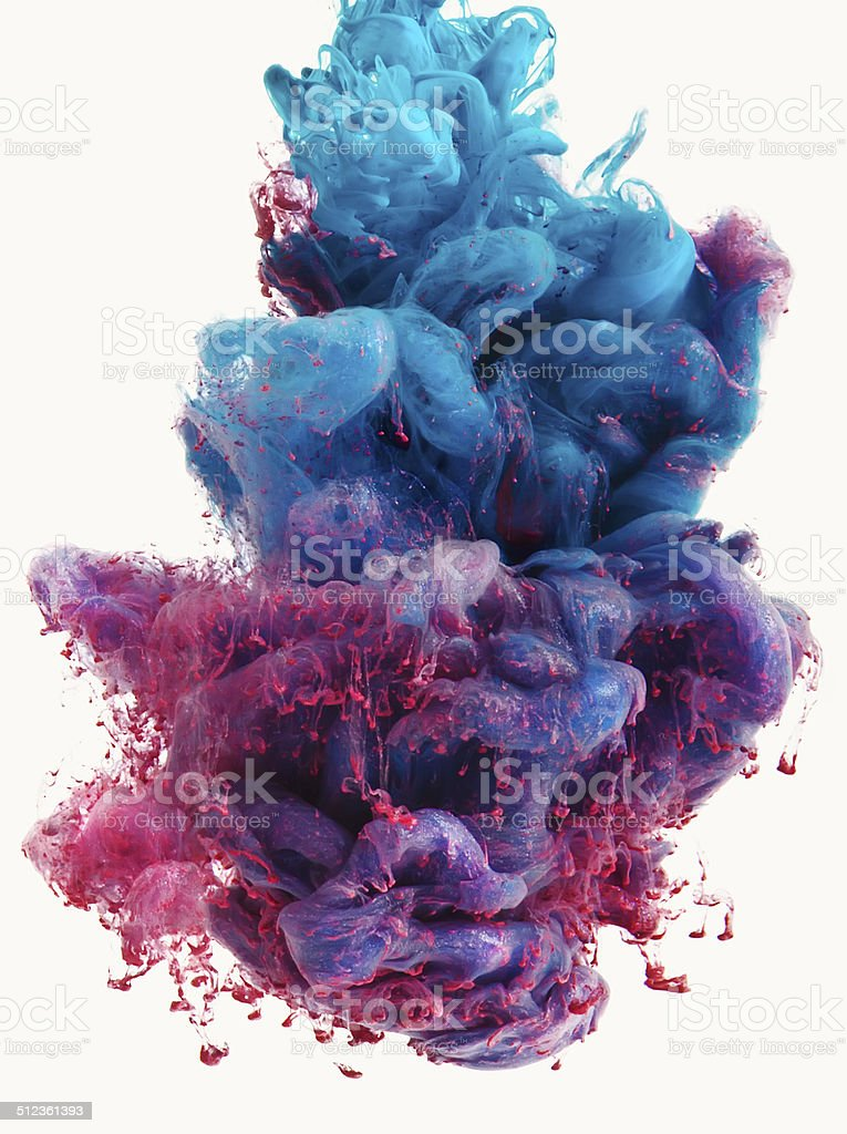 silky color drop stock photo