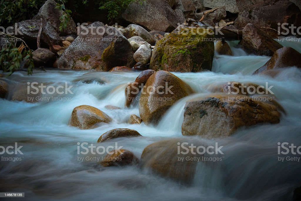 Silky River stock photo