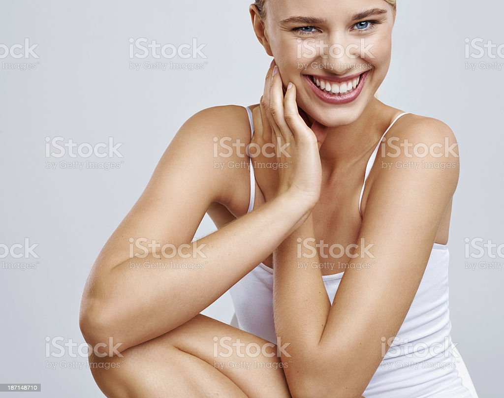 Silky soft skin royalty-free stock photo