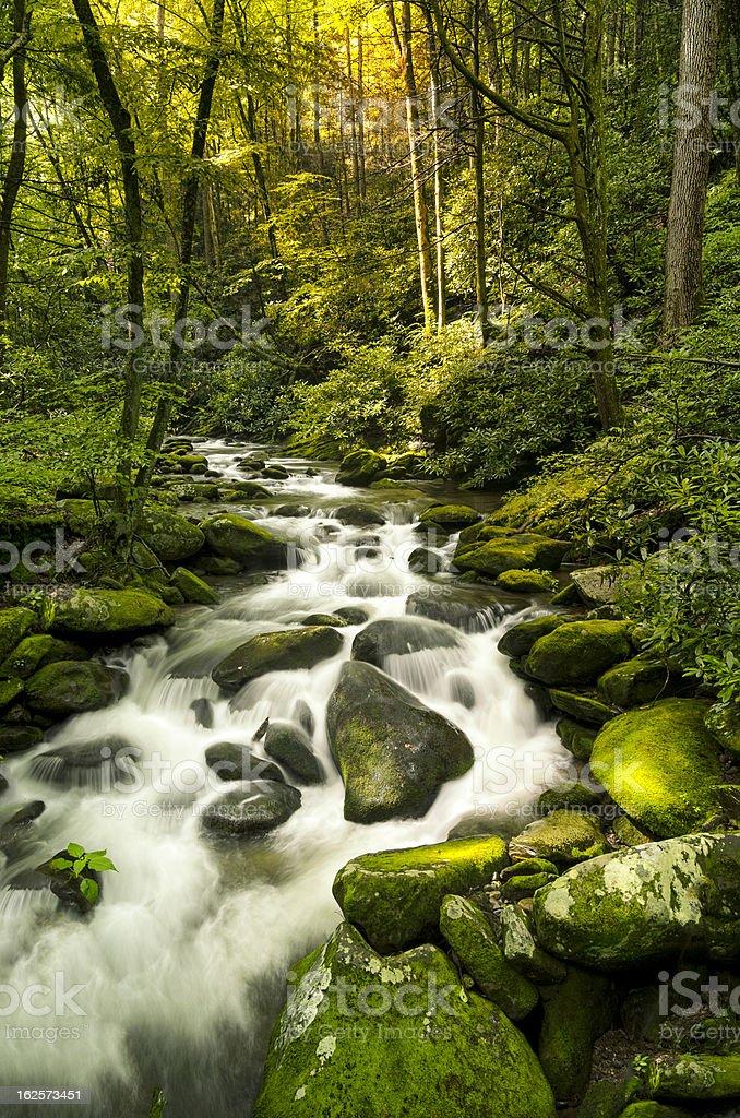 Silky Stream stock photo