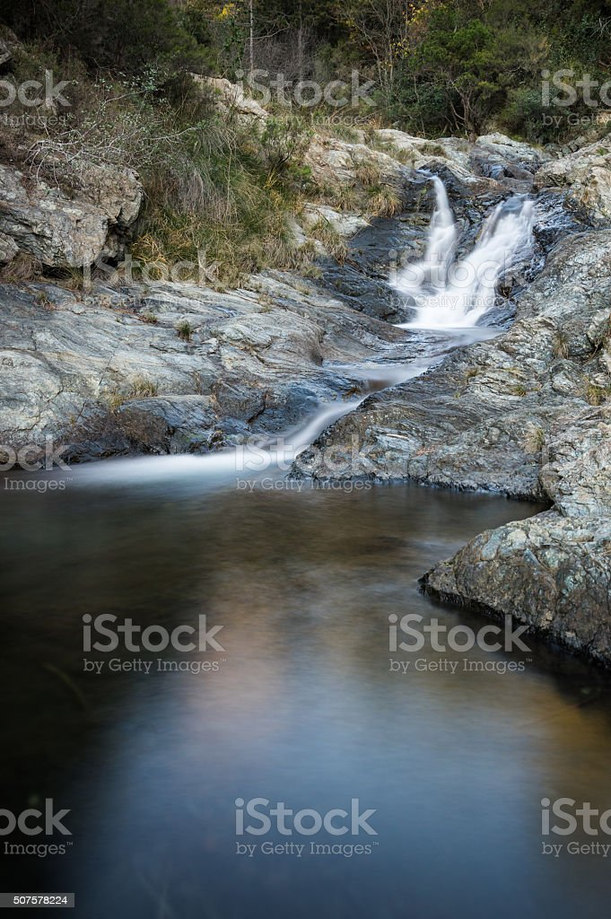 Silky stream stock photo