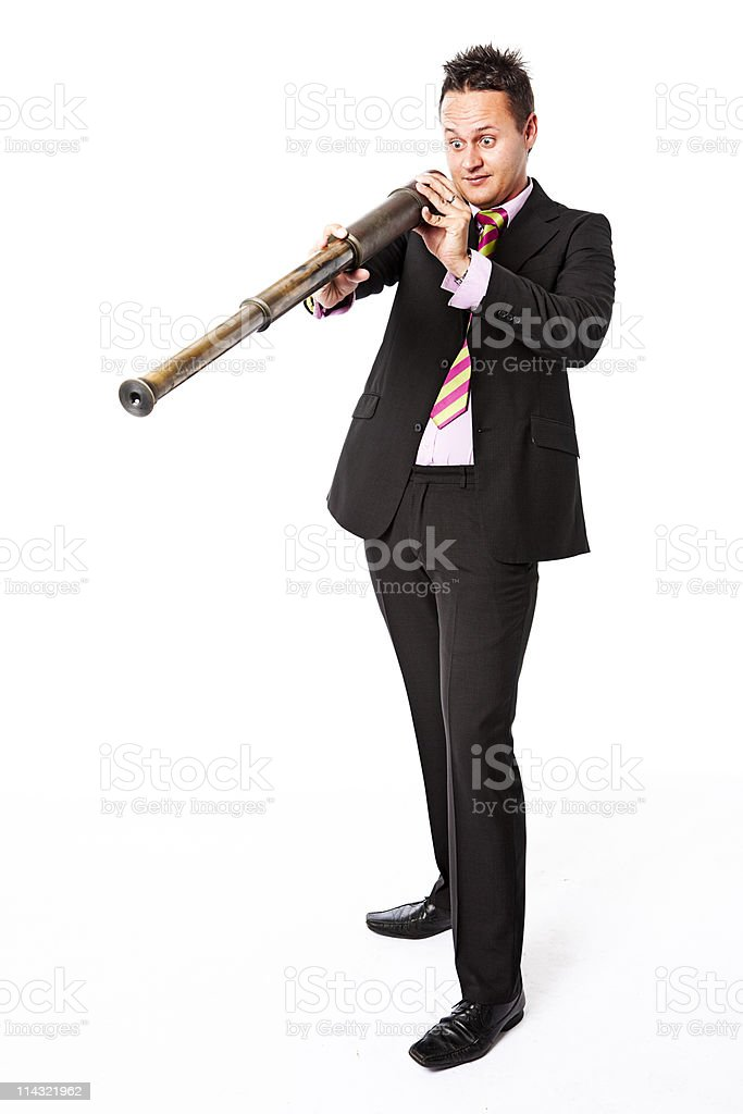 Silly businessman stock photo