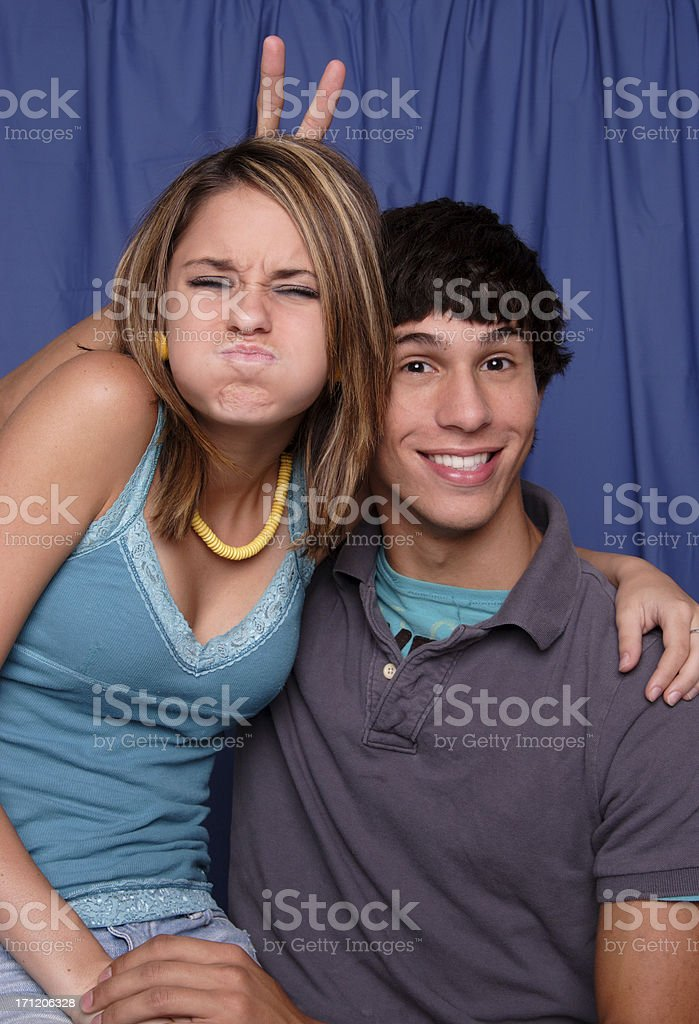 Silly couple 1. royalty-free stock photo