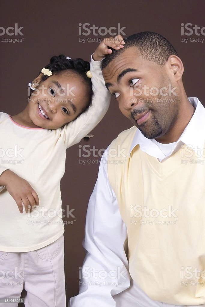 Silly Dad royalty-free stock photo