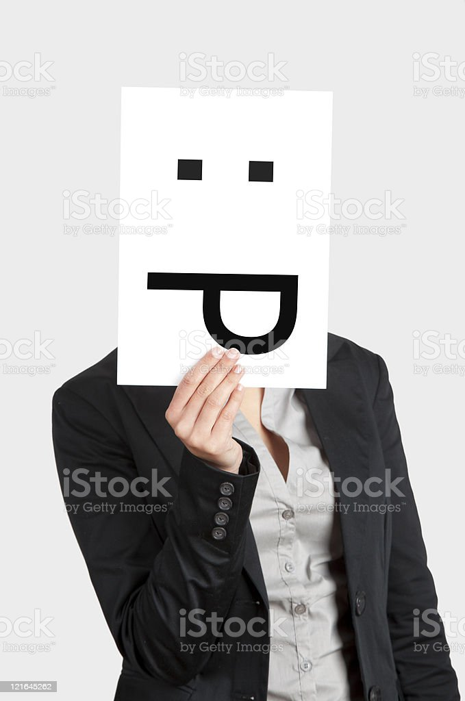 Silly emoticon royalty-free stock photo