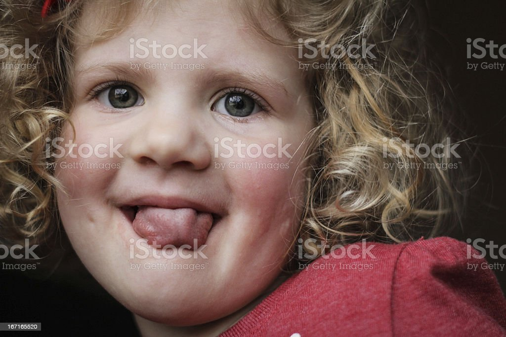 Silly Girl royalty-free stock photo