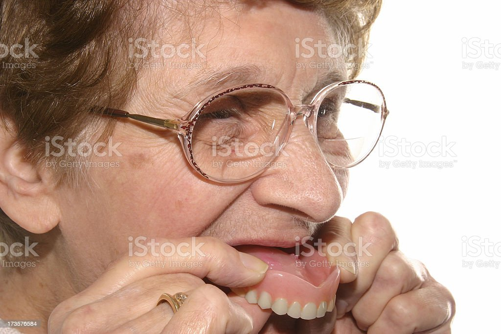 Silly Grandma stock photo